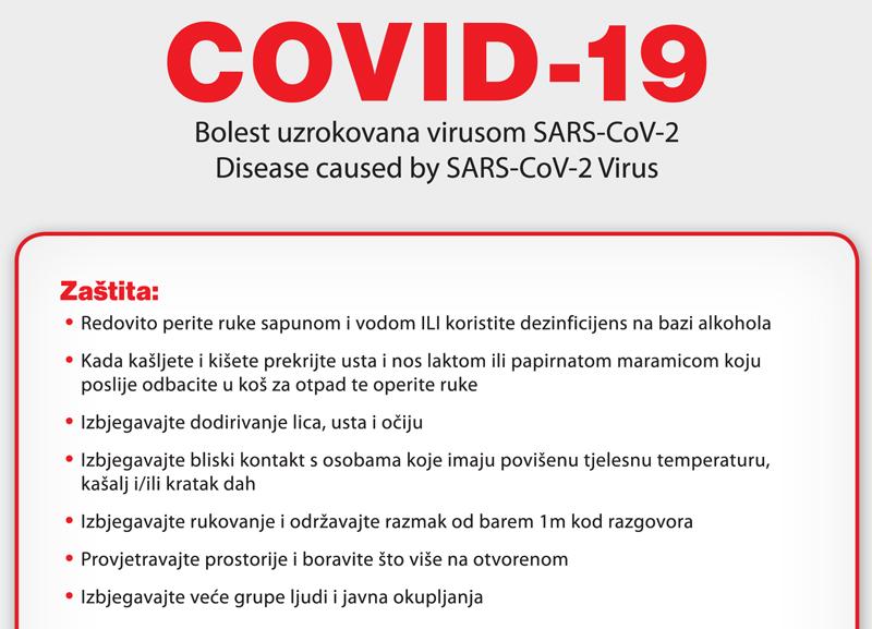 HZJZ – Aktualni podaci i preporuke vezane za sigurnosti i zaštitu stanovništva od Koronavirusa